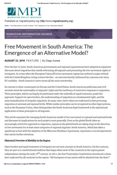 free-movement